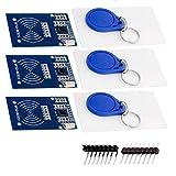 AZDelivery 3 x RFID Kit RC522 mit Reader, Chip und Card 13,56MHz SPI kompatibel mit Arduino und Raspberry Pi inklusive E-Book!